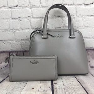 NWT Kate Spade SET Small Dome Satchel Wallet